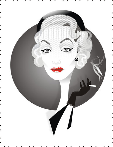Cartoon: Marlene Dietrich (medium) by Nicoleta Ionescu tagged marlene,dietrich