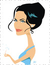 Cartoon: Angelina Jolie (small) by Nicoleta Ionescu tagged angelina jolie