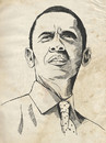 Cartoon: Barack Obama (small) by Nicoleta Ionescu tagged barack obama