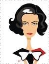 Cartoon: Greta Garbo (small) by Nicoleta Ionescu tagged greta garbo woman talent screen tv