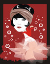 Cartoon: Louise Brooks (small) by Nicoleta Ionescu tagged louise brooks