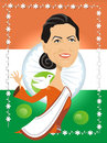 Cartoon: Sonia Gandhi (small) by Nicoleta Ionescu tagged sonia gandhi