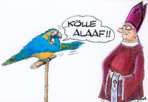 Cartoon: Alaaf und Helau (medium) by marka tagged schwarz,satire,karneval,religion