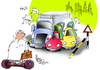 Cartoon: Traffic (small) by Majid Atta tagged majid,atta