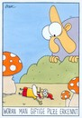 Cartoon: pilze (small) by WHOSPERFECT tagged pilz