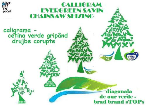 Cartoon: CALLIGRAM 2015 (medium) by STOPS tagged christmas,new,year,calligram,stops