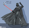 Cartoon: Darth vader selfie (small) by matan_kohn tagged darth,vader,selfie,phone,funny,star,wars,track,sifi,science,fiction,matan,kohn,stick