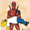 Cartoon: Deadpool and Homer simpson (small) by matan_kohn tagged caricature,comics,deadpool,funny,homersimpson,marvel,movie,simpson,thesimpsons,deadpoolmarvel