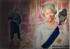 Cartoon: Her majesty (small) by matan_kohn tagged her majesty the queen england blackbird matan kohn cleaning lady buckingham palace funny cricature