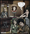 Cartoon: The 27 club  amy winehouse join (small) by matan_kohn tagged amy,winehouse,kurt,cobain,jimi,hendrix,janis,joplin,jim,morrison,dead,club,music,lagend,sad,caricature,musicians,usually,included