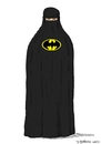 Cartoon: Batburka (small) by Dirk Berrens tagged batman,burka,woman,frauen,berrens