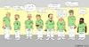 Cartoon: Das Team Patientenbegleitdienst (small) by Dirk Berrens tagged the,team,patient,escort,service,das,patientenbegleitdienst,krankenhaus,hospital,dirk,berrens