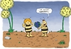 Cartoon: Willi Kalender 2012 (small) by Dirk Berrens tagged maja,maya,willi,kalender,weltuntergang,balon,blumen,naturkatastrofe,dirk,berrens,biene,calendar,doomsday,flowers,natural,disaster,bee