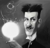Cartoon: Nikola  Tesla (small) by kadiryilmaz tagged nikola,tesla,cartoon,caricature,portrait