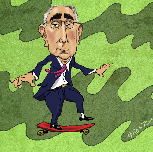Cartoon: Comedian-economist Ben Stein (medium) by frostyhut tagged ferris,actor,bueller,ben,economist,stein,benstein