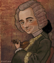 Cartoon: Jean-Jacques de Mondonville (small) by frostyhut tagged baroque composer french male wig violin