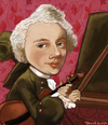 Cartoon: Jean-Marie LeClair (small) by frostyhut tagged leclair french baroque music classical violin
