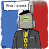Cartoon: Vive l atome (small) by flintstone73 tagged atom,frankreich,lobby,akw,manager