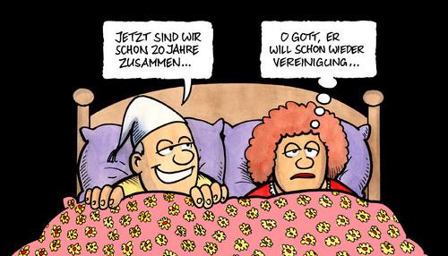 20 Jahre Deutsche Einheit Ii Von Harm Bengen Politik Cartoon