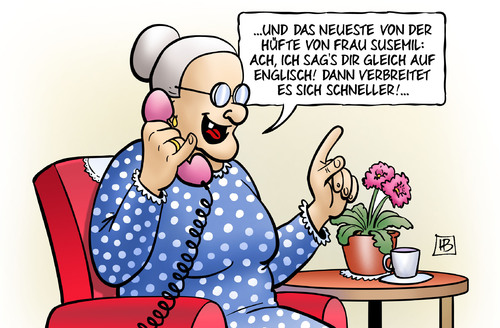 Abh ren auf englisch von harm bengen politik cartoon for Von deutsch auf englisch