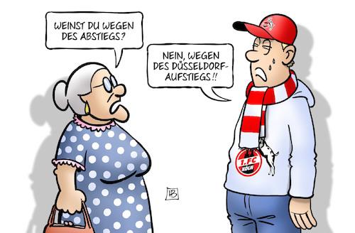Abstieg Aufstieg Von Harm Bengen Sport Cartoon Toonpool