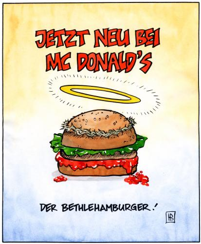 bethlehamburger von harm bengen religion cartoon toonpool. Black Bedroom Furniture Sets. Home Design Ideas