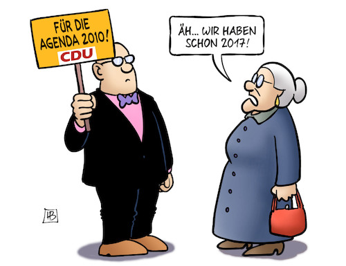 Cartoon: CDU für Agenda 2010 (medium) by Harm Bengen tagged cdu,agenda,2010,2017,demonstration,schild,susemil,harm,bengen,cartoon,karikatur,cdu,agenda,2010,2017,demonstration,schild,susemil,harm,bengen,cartoon,karikatur