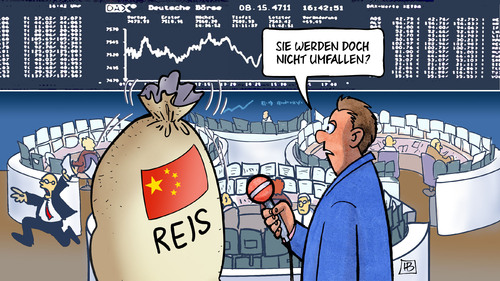 Cartoon: China-Börse (medium) by Harm Bengen tagged umfallen,china,börse,kurse,dax,aktien,sack,reis,harm,bengen,cartoon,karikatur,umfallen,china,börse,kurse,dax,aktien,sack,reis,harm,bengen,cartoon,karikatur