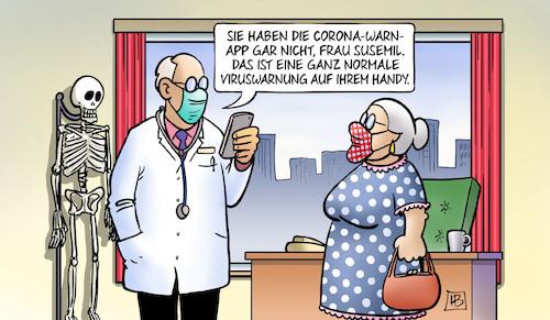 Viruswarnung Handy