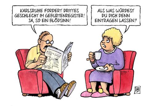 Karikatur des Geschlechts