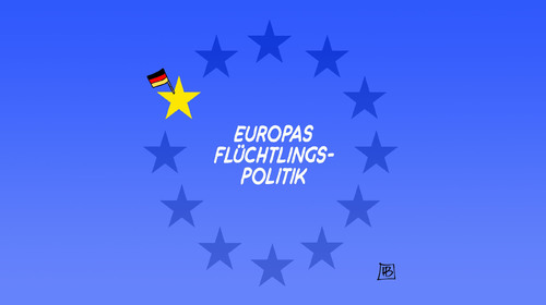 Cartoon: Europas Flüchtlingspolitik (medium) by Harm Bengen tagged europas,flüchtlingspolitik,eu,deutschland,immigration,fahne,sterne,isloation,harm,bengen,cartoon,karikatur,europas,flüchtlingspolitik,eu,deutschland,immigration,fahne,sterne,isloation,harm,bengen,cartoon,karikatur