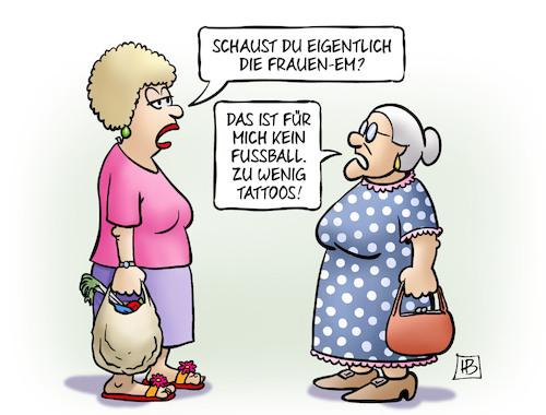 Frauen Em Von Harm Bengen Sport Cartoon Toonpool