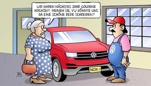 Goldene Hochzeits Rede Von Harm Bengen Politik Cartoon