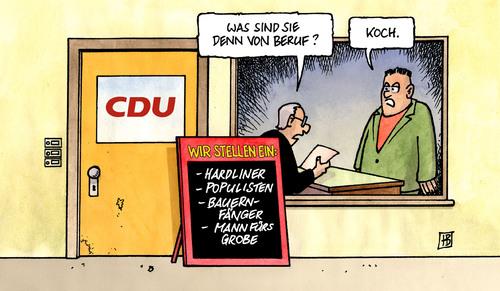 Koch-Nachfolge von Harm Bengen | Politik Cartoon | TOONPOOL | {Koch bei der arbeit 65}