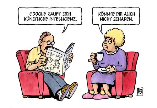 Cartoon: Künstliche Intelligenz (medium) by Harm Bengen tagged künstliche,intelligenz,google,harm,bengen,cartoon,karikatur,künstliche,intelligenz,google,harm,bengen,cartoon,karikatur