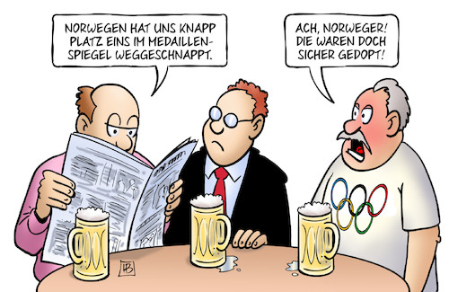 Olympia Fazit Von Harm Bengen Sport Cartoon Toonpool