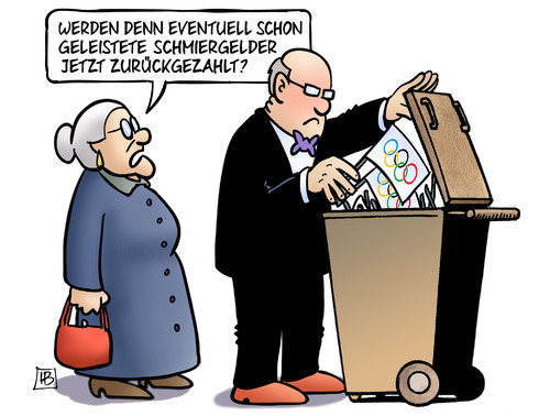 Cartoon: Olympia-Müll (medium) by Harm Bengen tagged schmiergelder,korruption,sport,olympia,referendum,hamburg,kiel,abstimmung,muell,susemil,harm,bengen,cartoon,karikatur,schmiergelder,korruption,sport,olympia,referendum,hamburg,kiel,abstimmung,muell,susemil,harm,bengen,cartoon,karikatur