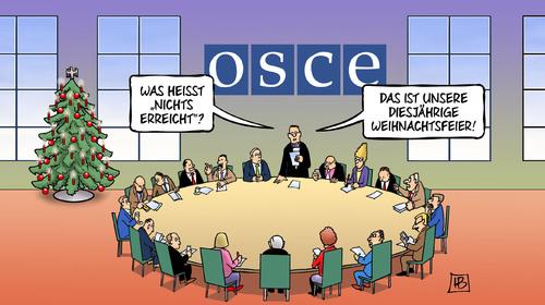 Weihnachtsfeier Cartoon.Osze Weihnachtsfeier Von Harm Bengen Politik Cartoon Toonpool
