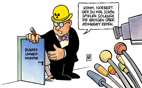 Cartoon: Röttgen (medium) by Harm Bengen tagged röttgen,umweltminister,norbert,atomkraft,kernkraft,konzerne,deal,geheimpapier,röttgen,umweltminister,norbert,atomkraft,kernkraft,konzerne,geheimpapier