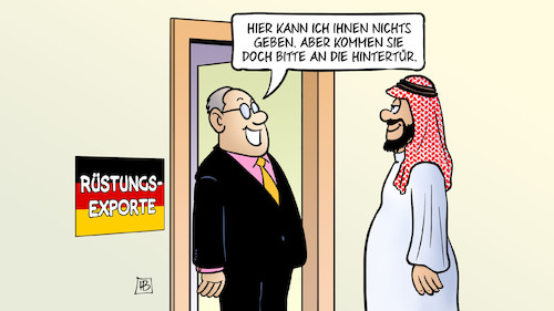 Cartoon: Rüstungs-Hintertür (medium) by Harm Bengen tagged rüstungs,exporte,hintertür,deutschland,saudi,arabien,jemen,krieg,rüstungsindustrie,waffenverkäufe,harm,bengen,cartoon,karikatur,rüstungs,exporte,hintertür,deutschland,saudi,arabien,jemen,krieg,rüstungsindustrie,waffenverkäufe,harm,bengen,cartoon,karikatur