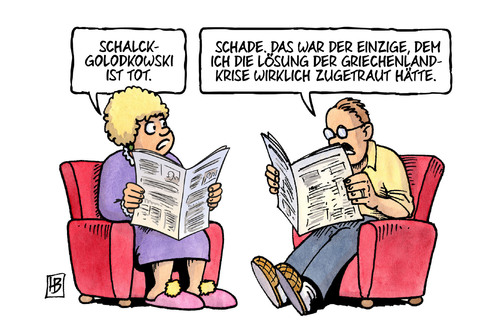 Cartoon: Schalck-Golodkowski (medium) by Harm Bengen tagged schalck,golodkowski,tot,ddr,devisenbeschaffer,krise,grexit,troika,institutionen,eu,ezb,iwf,griechenland,pleite,schulden,harm,bengen,cartoon,karikatur,schalck,golodkowski,tot,ddr,devisenbeschaffer,krise,grexit,troika,institutionen,eu,ezb,iwf,griechenland,pleite,schulden,harm,bengen,cartoon,karikatur