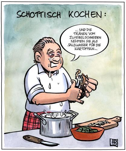 "toonpool.com Toon Agent   ""Schottisch kochen"" von Harm Bengen"