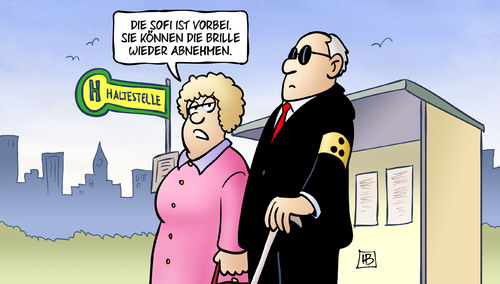 Cartoon: Sofi-Brille (medium) by Harm Bengen tagged brille,sonnenfinsternis,sofi,partielle,blind,irrtum,harm,bengen,cartoon,karikatur,brille,sonnenfinsternis,sofi,partielle,blind,irrtum,harm,bengen,cartoon,karikatur