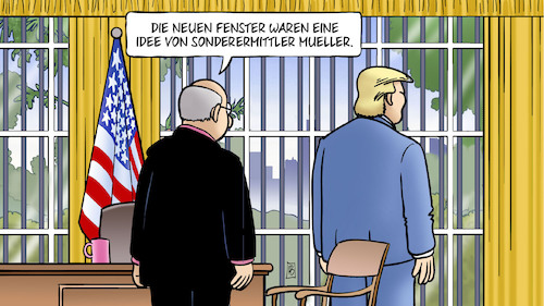 Cartoon: Trump-Manafort (medium) by Harm Bengen tagged fenster,idee,sonderermittler,mueller,trump,manafort,usa,russland,wahlkampf,knast,gefängnis,hausarrest,harm,bengen,cartoon,karikatur,fenster,idee,sonderermittler,mueller,trump,manafort,usa,russland,wahlkampf,knast,gefängnis,hausarrest,harm,bengen,cartoon,karikatur