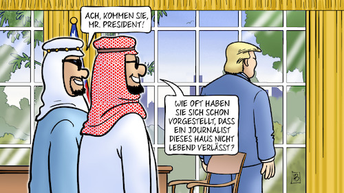 Cartoon: Trump und Khashoggi (medium) by Harm Bengen tagged president,trump,oval,office,journalist,weisses,haus,nicht,lebend,tod,tot,istanbul,konsulat,botschaft,türkei,saudi,arabien,khashoggi,mord,harm,bengen,cartoon,karikatur,president,trump,oval,office,journalist,weisses,haus,nicht,lebend,tod,tot,istanbul,konsulat,botschaft,türkei,saudi,arabien,khashoggi,mord,harm,bengen,cartoon,karikatur