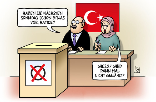 Cartoon: Türkei-Wahl (medium) by Harm Bengen tagged türkei,wahl,sonntag,erdogan,akp,harm,bengen,cartoon,karikatur,türkei,wahl,sonntag,erdogan,akp,harm,bengen,cartoon,karikatur