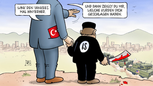 Cartoon: US-Abzug Nordsyrien (medium) by Harm Bengen tagged usa,abzug,nordsyrien,yankees,winken,krieg,islamischer,staat,is,kurden,rojava,geschlagen,besiegt,erdogan,türkei,einmarsch,invasion,harm,bengen,cartoon,karikatur,usa,abzug,nordsyrien,yankees,winken,krieg,islamischer,staat,is,kurden,rojava,geschlagen,besiegt,erdogan,türkei,einmarsch,invasion,harm,bengen,cartoon,karikatur