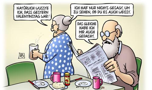 Valentinstag Nachlese Von Harm Bengen Philosophie Cartoon Toonpool