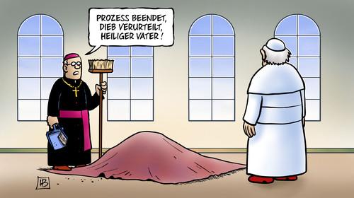 VatileaksProzess von Harm Bengen  Religion Cartoon