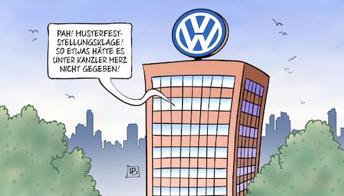Vw Musterfeststellungsklage Von Harm Bengen Wirtschaft Cartoon